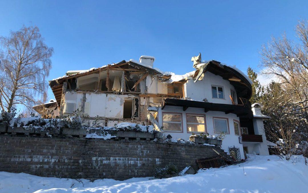 Abriss des alten Hotels Latscheneck